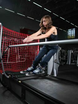 Тренировки на горнолыжном тренажере