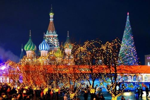Москва на новогодних каникулах