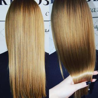Ламинирование и выпрямление волос