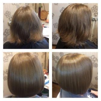Кератиновое выпрямление,Ботокс,Тритмент д/волос.Коллаген и полировка.