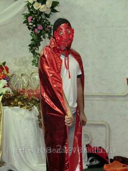 Карнавальный костюм вампир красный прокат