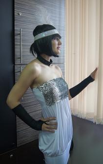 Леди 20 х (белое платье, пайетки на груди)